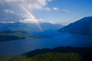 Beautiful view on Kootenay Lake, British Columbia, Canada
